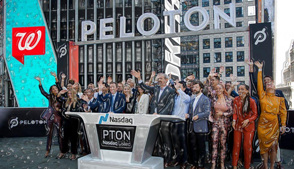 Peloton IPO shares