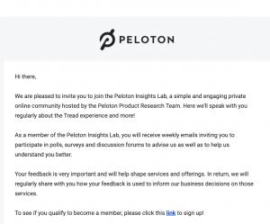 Peloton insights Lab